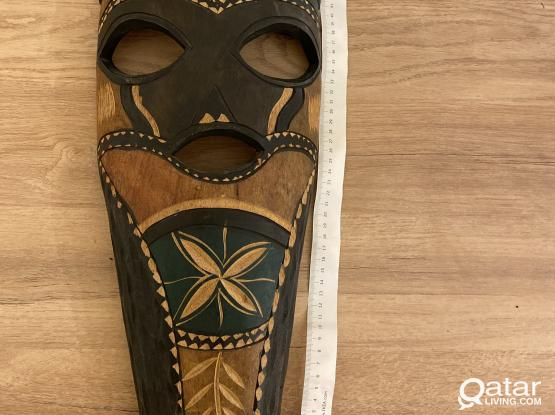 Decorative wooden african mask