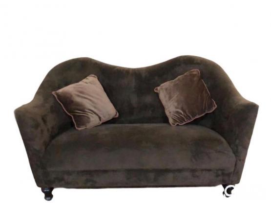 Home Center Brown Velvet Sofa