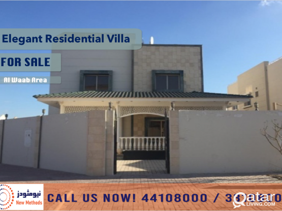 EXCLUSIVE MARKETING ELEGANT RESIDENTIAL VILLA AT AL WAAB FOR SALE