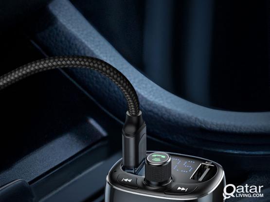 Baseus Dual Charger FM Transmitter Handsfree Bluetooth