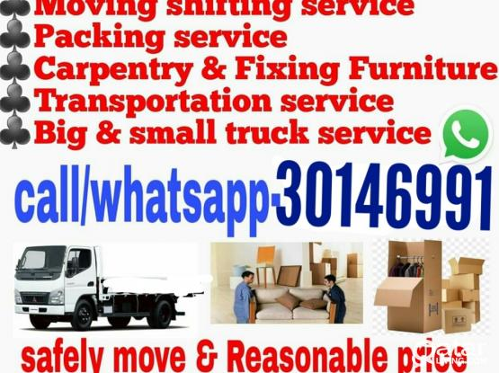 We do less price moving shifting carpenter transport service.Please whatsapp or call 30146991