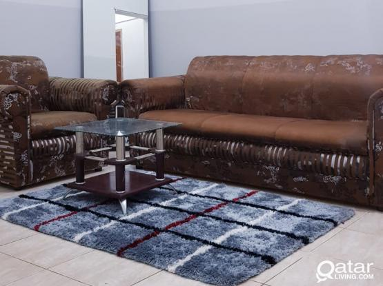 Fully furnished ground floor 1bhk available behind al habari kfc commercial bank  1800qr
