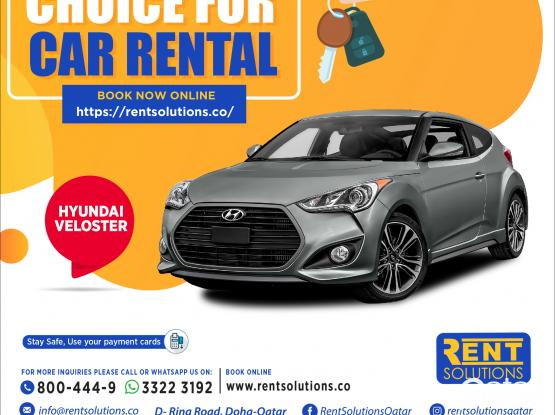 Hyundai Veloster   Daily - 150 QR Monthly - 2400 QR