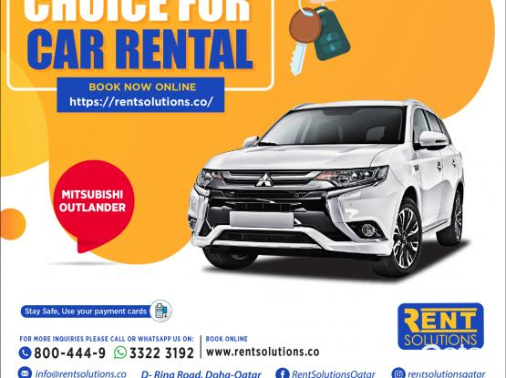 Mitsubishi Outlander Daily 190 QR - Monthly 3000 QR