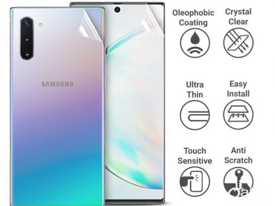 NEW Samsung NOTE 10 TPU front & back screen protector ORIGINAL OLIXAR
