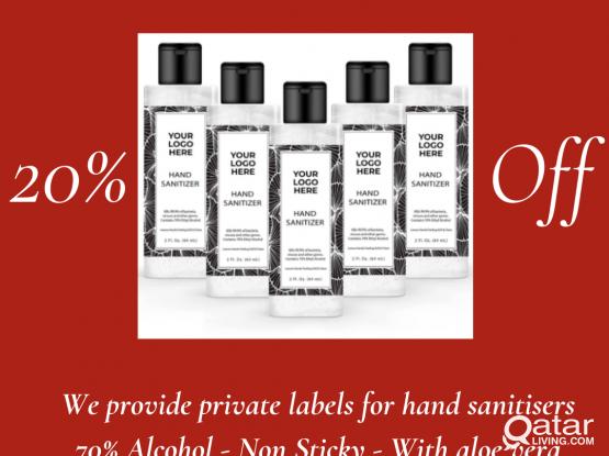 Private label hand sanitiser