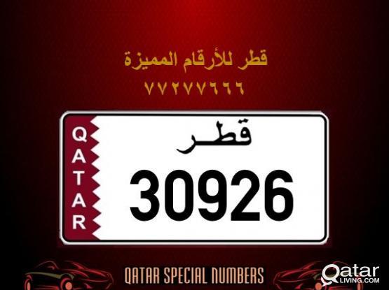 30926 Special Registered Number