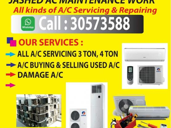 Kind of AC /freeze/ washing machine/buying selling and repairing 24 hours any location call and WhatsApp 3057 3588