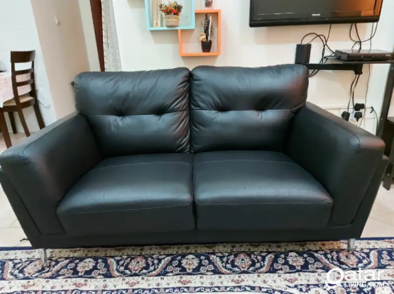 3+2 Seater Leather sofa Home Center