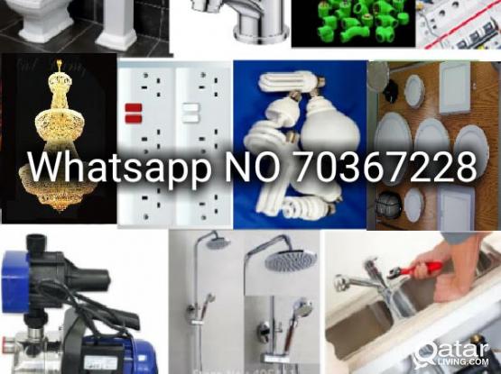 we do all electric&plumbing work Whatsapp70367228