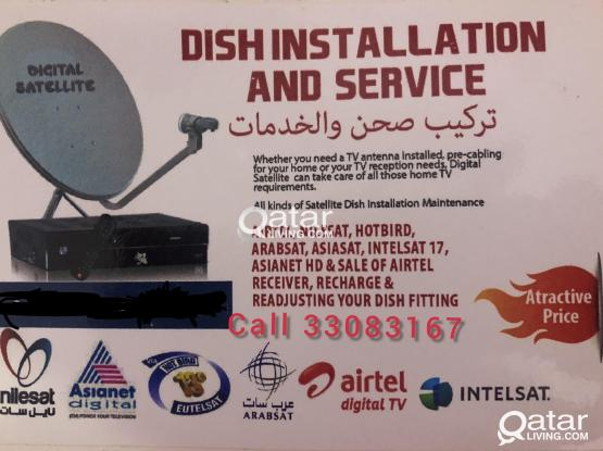 All kinds of satellite dish receiver sale and installation.. Airtel•nilesat •arabsat•hotbird