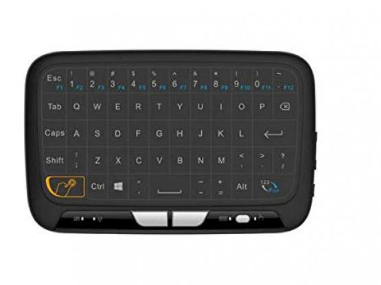 H18 2.4GHz Mini Wireless Keyboard and Touchpad Mouse Combos, Rechargeable Remote Control for Google