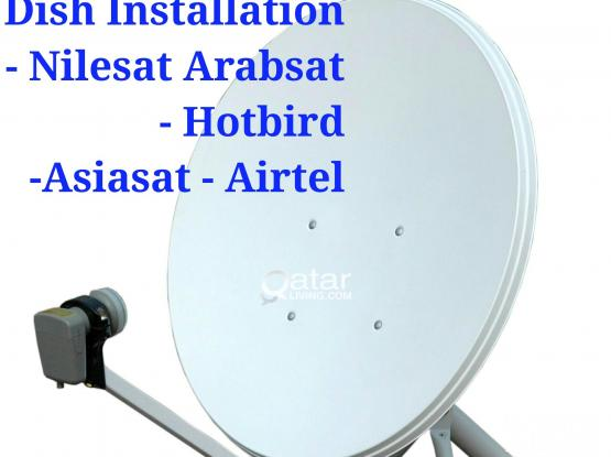 All kinds of satellite dish receiver sale and installation. Airtel•nilesat •arabsat•hotbird