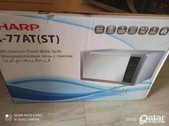 Sharp Microwave 34L with Grill Option Less then One Year Used
