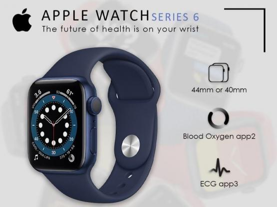 Apple watch 44 blue & red series 6