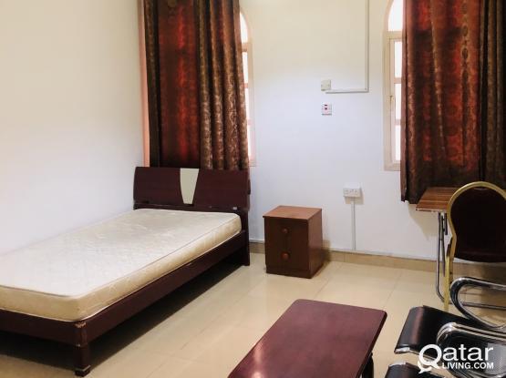 fully furnished studio flat in old salata near Corniche