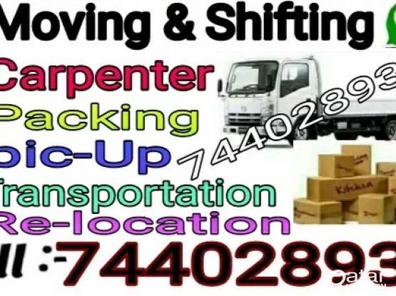 Moving..Shifting..Carpenter..Transportation service..call 74402893