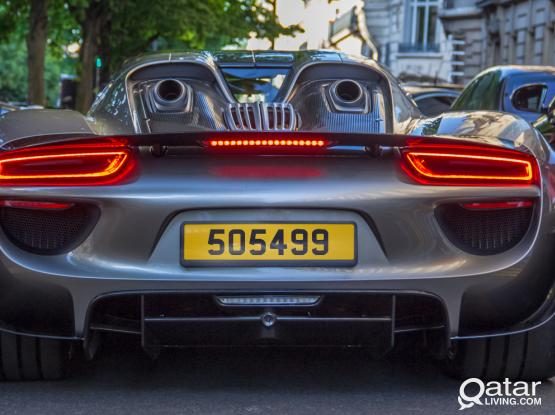 Car Number  Plate - 5 0 5 4 9 9  -