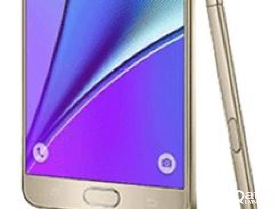 Golden Samsung Note 5 with S Pen