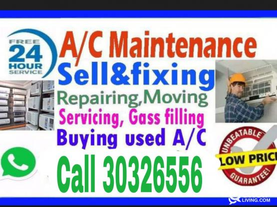 Ac sale/ buy/ repair/ services/fixing gas filing 24house and Installation call/30326556whatsapp