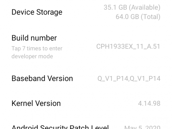 OPPO A5 2020.    64GB/4GB