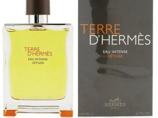 Terre D'Hermes Eau Intense Vetiver by Hermes 200ml Eau De Parfum Spray for Men