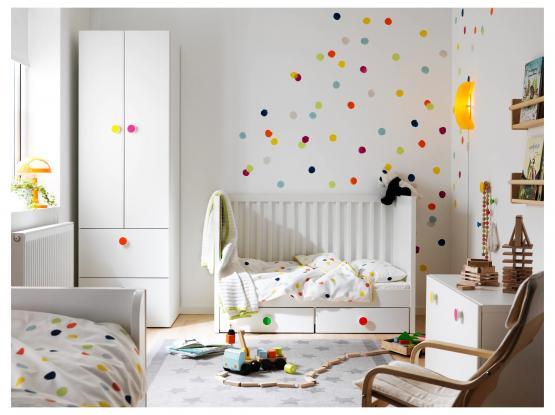Cot with drawers, white /سرير أطفال مع أدراج / أبيض اللون