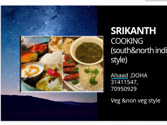Cooking (South&North indian style)