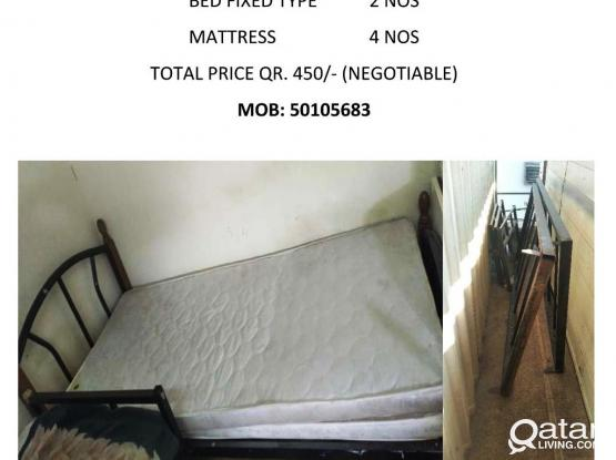 6 NOS. USED BEDS & MATTRESSES FOR SALE