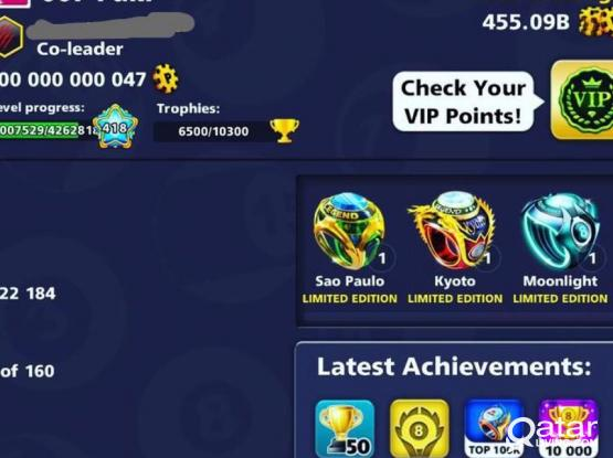 100Billion Coins 8Ball Pool account For sale