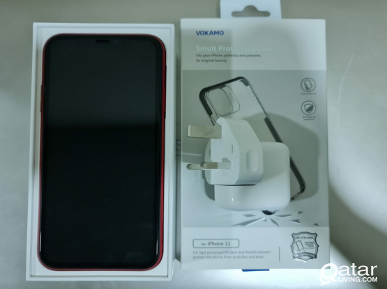 IPhone 11 with fast charger