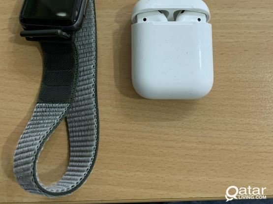 Apple series 2 watch and airpods 2