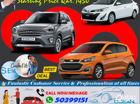 ALL KINDS OF NEW BRAND VEHICLES  AVAILABLE CAR FOR RENT ! CALL -50399151/44182020/31696859