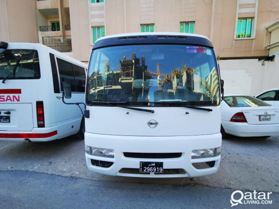 15/26/30 Seated Bus For Rent . Also Available Double Cabin Pick Ups & Cars . Contact Mr. Abdul Kareem on 55879148 & Mr. Ian Cristopher on  33751050 Landline : 44374633 / 44757426
