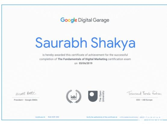 Digital Professional Certificates Available