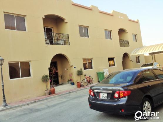 'one month free'compound villa 4 bedroom+outhouse with balcony semi furnished at garaffa
