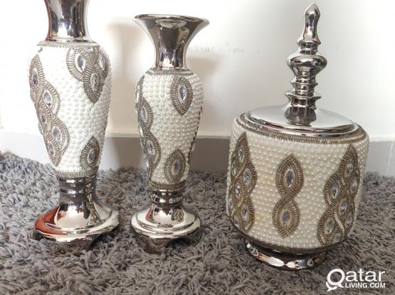 Decorative Candle Stands and Urn with Lid