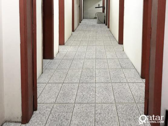 Labor accommodation for Rent: 1,350/= QR Monthly per room, including water, Electricity & Sewage
