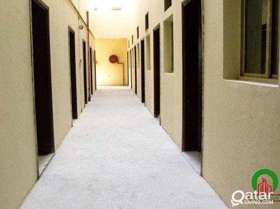 Accommodation/Camp for Rent: 1,400/= QR Monthly per room, including water, Electricity & Sewage