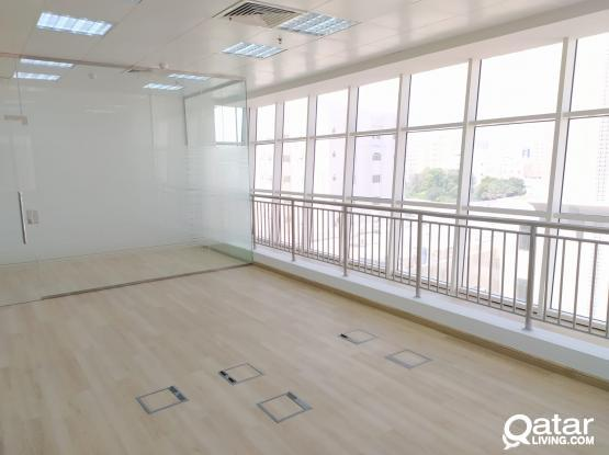 1 Month Free ! 123 Sqm Glass Partitioned Office Space Available in Muntaza
