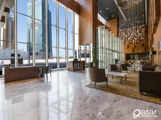 Aleph Doha Residences, Curio Collection by Hilton Brand new Two bedroom Apt FF All bills included