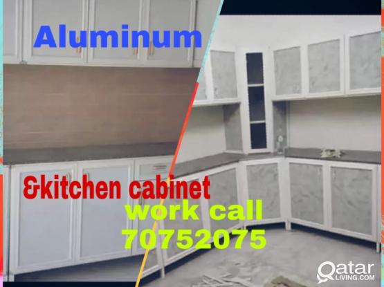 Aluminum kitchen cabinet work call
