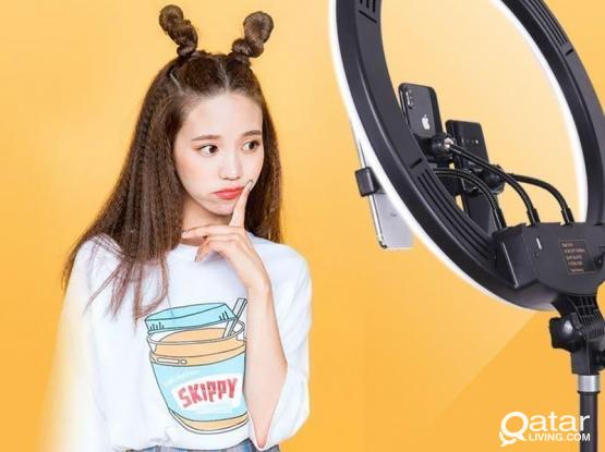 Ring Light 18 Inch 3 Phone Holder (10 Colors)