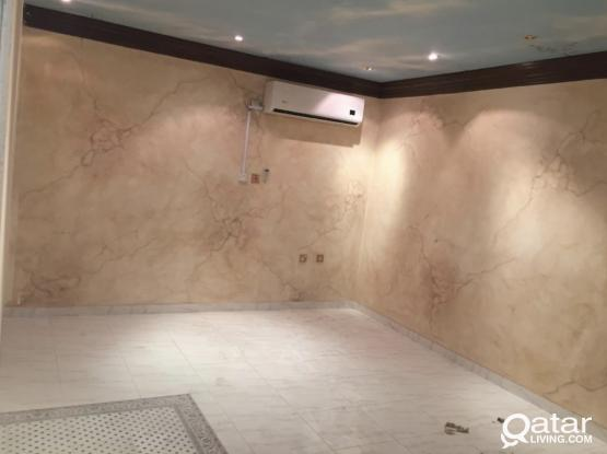SPACIOUS 1 BHK VILLA PORTION AVAILABLE FOR FAMILY AT AL MAAMOURA (NEAR ICC BUILDING)