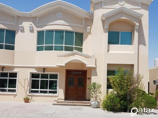 spacious 5 bhk semi furnished villa for rent in Abu Hamour, no commission