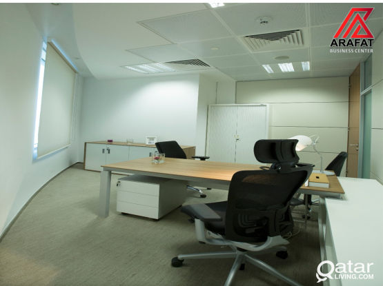 HURRY UP LUXURIOUS Fully furnished office with approved trade licence in Barwa Towers-Alsadd