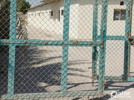 LABOR CAMP AVAILABLE FOR SHORT/LONG TERM PERIOD IN AL KHOR SANAYHA
