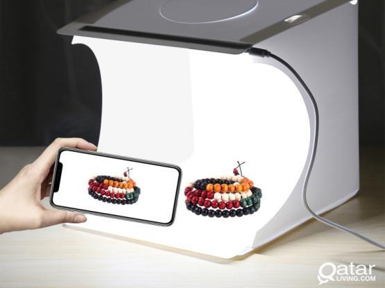 Puluz PU5021 LED Portable Photo Studio – 20cm Folding Product Shooting Box