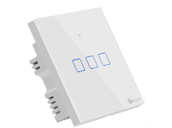 Sonoff T0UK3C TX Wifi Smart Wall Switch with Smart Home edge 3 Gang – White