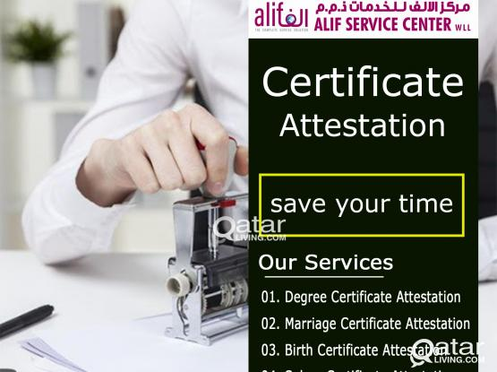 CALL 33669920   Degree Certificate, Marriage Certificate,Birth Certificate,Salary Certificate Attest